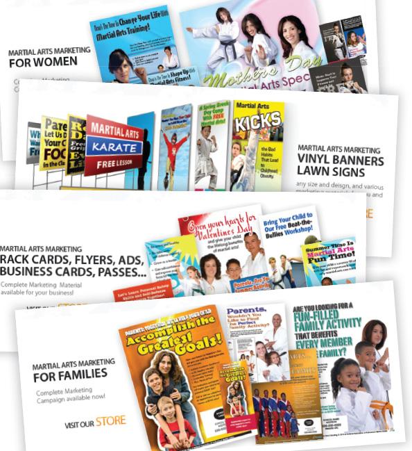 Martial Arts Marketing Materials